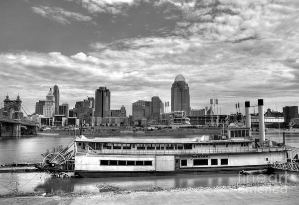 Photograph - A River City Bw by Mel Steinhauer