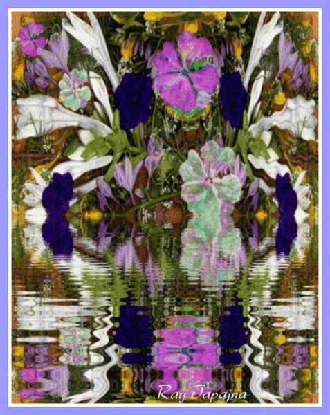 Mixed Media - A River Of Flowers  by Ray Tapajna