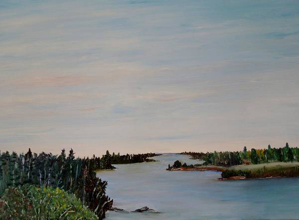 Painting - A River Shoreline by Marilyn  McNish