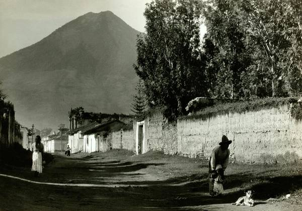 Wall Art - Photograph - A Road By Mount Agua In Guatemala by Arnold Genthe