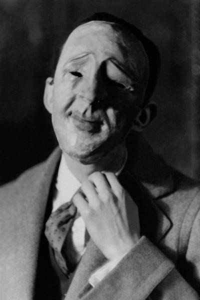 Male Photograph - A Robert C. Benchley Mask by Francis Bruguiere
