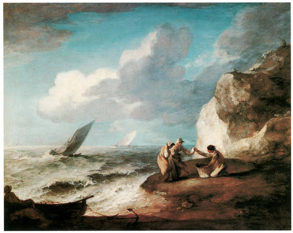 Thomas Gainsborough Wall Art - Painting - A Rocky Coastal Scene by Thomas Gainsborough