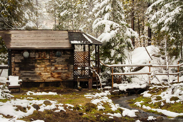 Cabin In The Woods Wall Art - Photograph - A Roof And A Hot Spring by Kunal Mehra