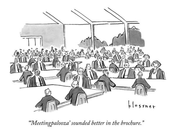 Better Drawing - A Room Holds Dozens Of Conference Tables by John  Klossner