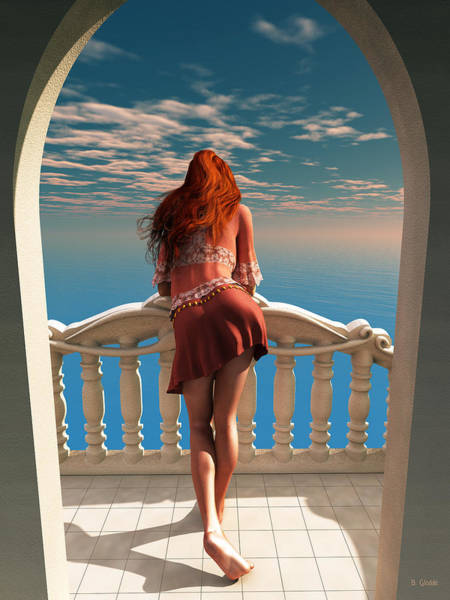 Balcony Digital Art - A Room With A View by Britta Glodde