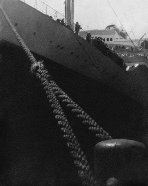 Boat Photograph - A Rope On A Ship by Frederick Bradley