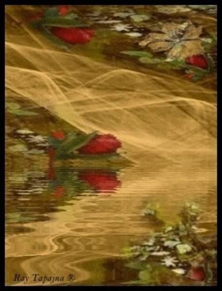 Mixed Media - A Rose Bud Stream by Ray Tapajna