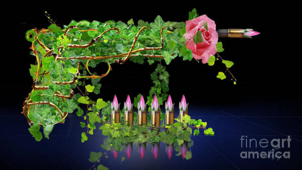 Guns And Roses Painting - A Rose By Any Other Name - Would It Smell As Sweet by Reggie Duffie