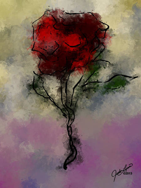 Digital Art - A Rose Is by The Art Of JudiLynn