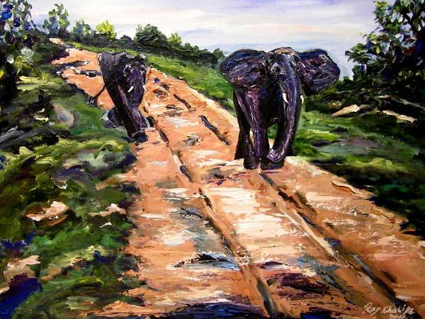 Painting - A Rough Safari by Ray Khalife