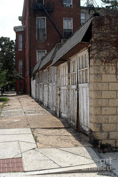 Photograph - A Row Of Carriage Houses by Walter Neal