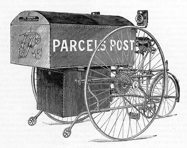Wall Art - Drawing - A Royal Mail Parcels Post  Delivery by Mary Evans Picture Library