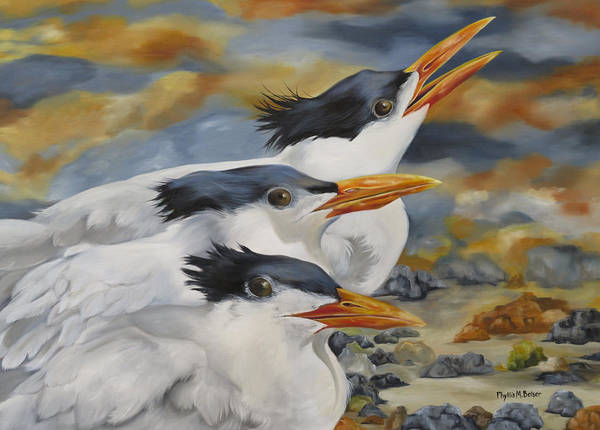 Wall Art - Painting - A Royal Trio by Phyllis Beiser