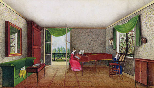 Grand Piano Painting - A Russian Interior by Micheline Blenarska