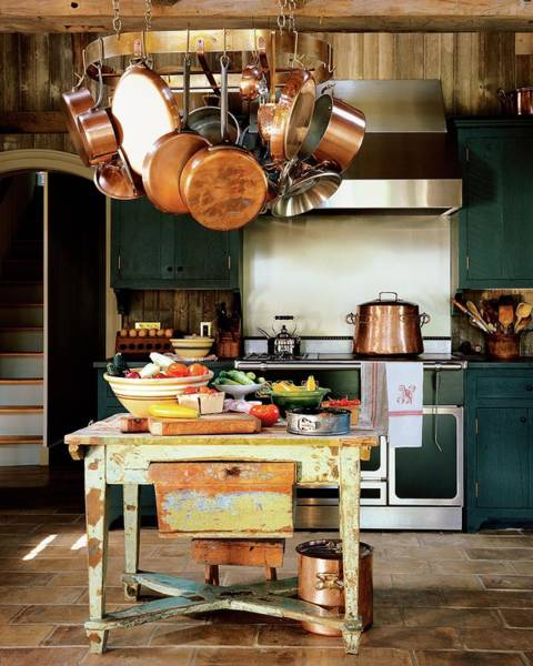 Tile Floor Photograph - A Rustic Kitchen by Michael Mundy