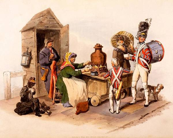Soldier Drawing - A Sallop Seller Serving Heated Hot by William Henry Pyne