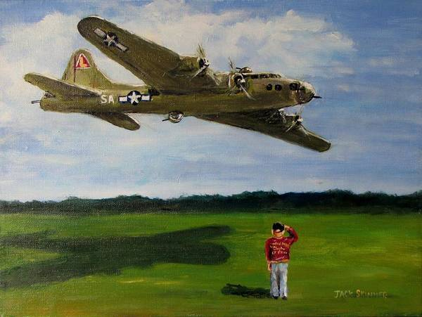 Wall Art - Painting - A Salute To The Greatest Generation by Jack Skinner