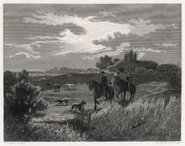 Homestead Drawing - A Saxon Homestead          Date Circa by Mary Evans Picture Library