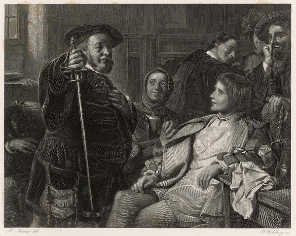Influence Drawing - A Scene From Shakespeare's History by Mary Evans Picture Library