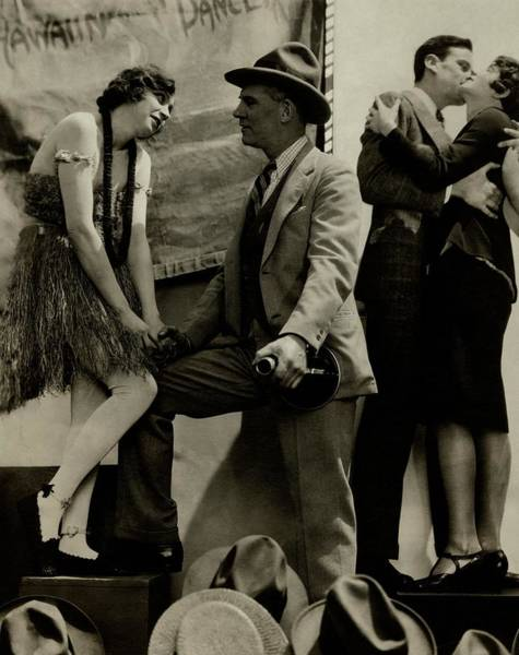 Four People Photograph - A Scene From The Barker by Edward Steichen
