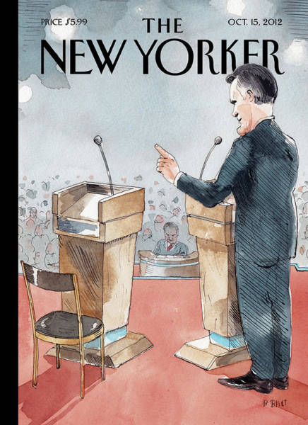 Obama Painting - A Scene From The Presidential Debate by Barry Blitt