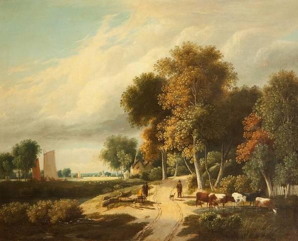 Norfolk Wall Art - Painting - A Scene In Norfolk by Samuel David Colkett