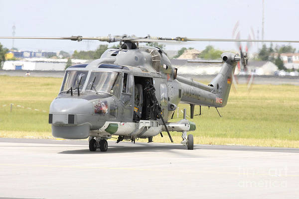 Agustawestland Photograph - A Sea Lynx Of The German Navy Equipped by Timm Ziegenthaler