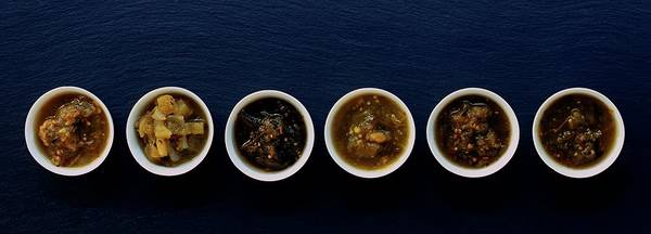 Dine Photograph - A Selection Of Salsa by Romulo Yanes