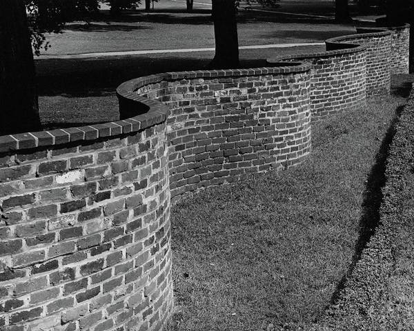 Photograph - A Serpentine Brick Wall by William and Neill Dingledine