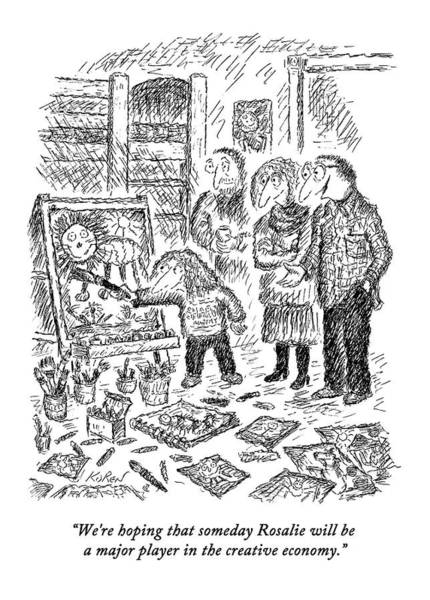 Hope Drawing - A Set Of Parents Speak To Another Adult by Edward Koren