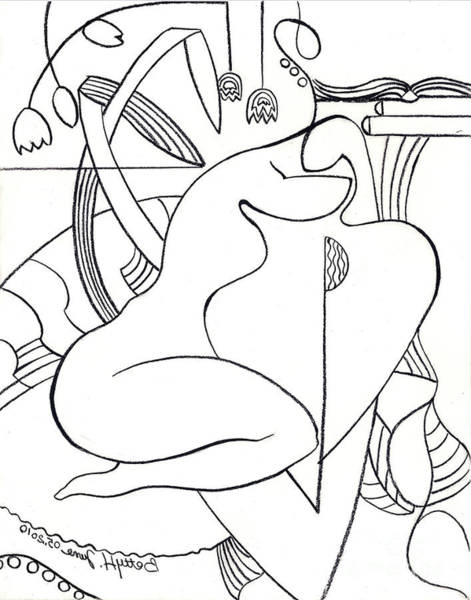 Meditation Drawing - A Shoulder To Cry On No. 2 by Elisabeta Hermann