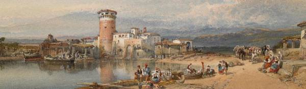 Sicily Painting - A Sicilian Village by William Leighton Leitch
