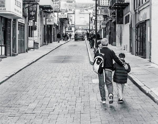 Photograph - A Side Street In China Town by Steve Stanger