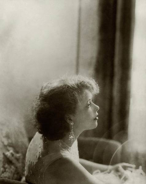 Photograph - A Side View Of Clara Bow by Edward Steichen