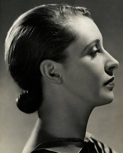 Head And Shoulders Photograph - A Side View Of Marion Morehouse by Nickolas Muray