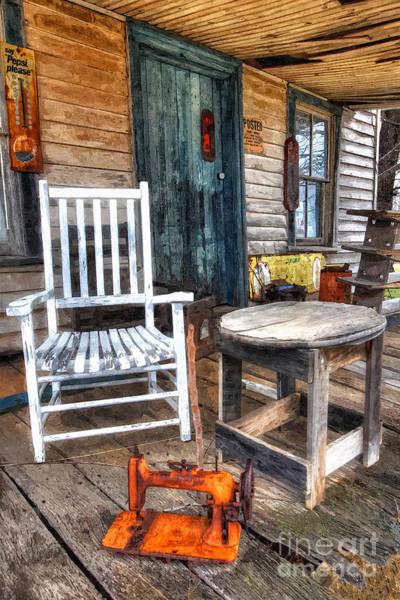 Porch Painting - A Simpler Time II - Rural North Carolina by Dan Carmichael