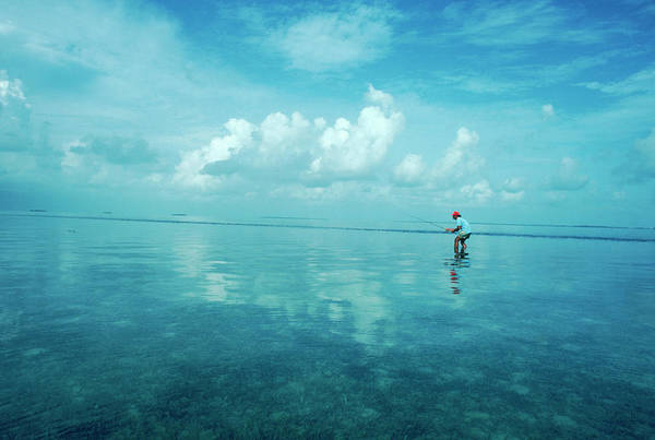 Wall Art - Photograph - A Single Fisherman Bone Fishing by Jose Azel