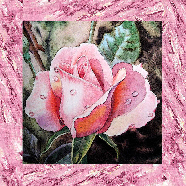 Single Rose Painting - A Single Rose Make Me Pink  by Irina Sztukowski