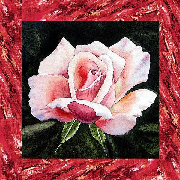 Full Bloom Painting - A Single Rose Mellow Pink by Irina Sztukowski