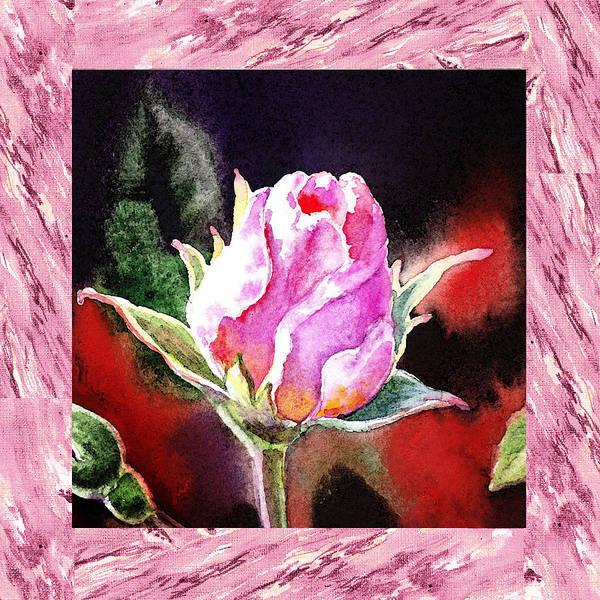 Full Bloom Painting - A Single Rose Pink Impressionism  by Irina Sztukowski