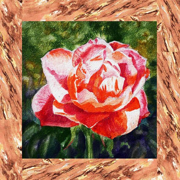 Full Bloom Painting - A Single Rose The Morning Beauty by Irina Sztukowski