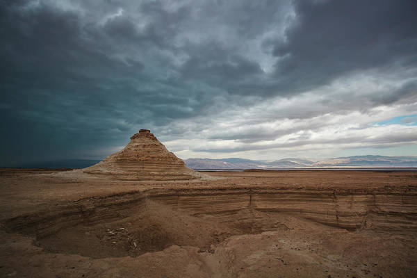 Roman Fort Photograph - A Sink Hole In The Judean Desert by Reynold Mainse / Design Pics