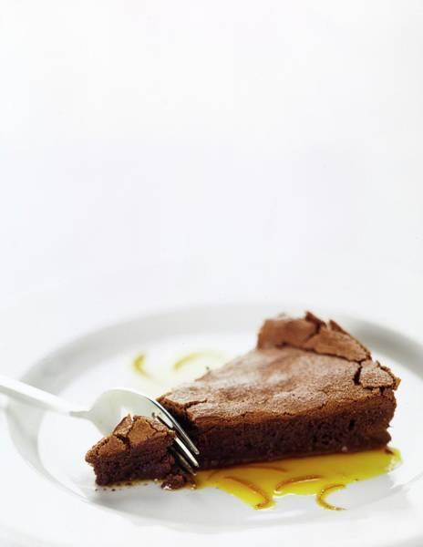 Indulgence Photograph - A Slice Of Chocolate Cake by Romulo Yanes