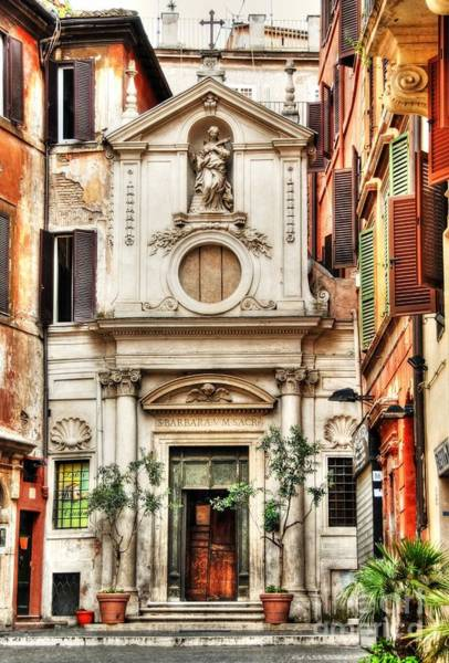 Photograph - A Small Church In Rome by Mel Steinhauer