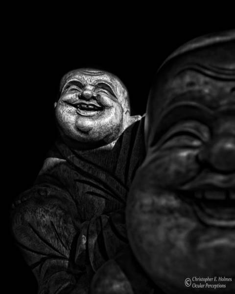 Photograph - A Smile On The Shoulder - Bw by Christopher Holmes