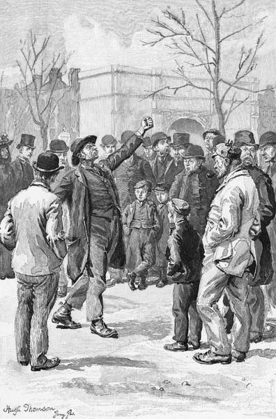 Wall Art - Drawing - A Socialist Orator At  'speakers' by Mary Evans Picture Library