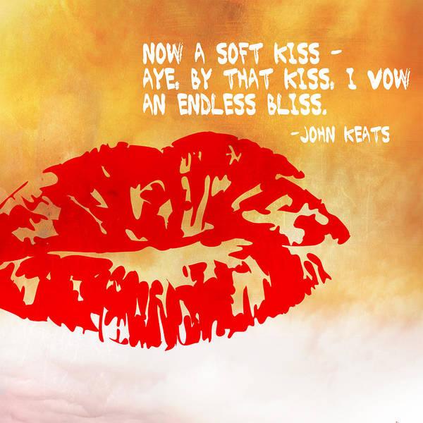 Digital Art - A Soft Kiss by Paulette B Wright