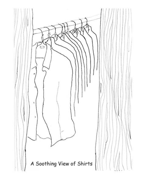 Soothing Drawing - A Soothing View Of Shirts by Alan McCormick