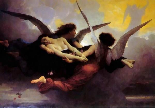 Digital Art - A Soul In Heaven by William Bouguereau