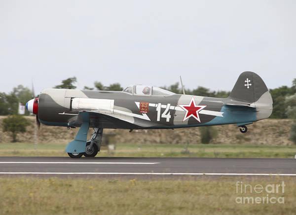 Yakovlev Photograph - A Soviet Yakovlev Yak-11 Warbird by Timm Ziegenthaler